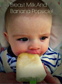 Breast Milk And Banana Popsicles! Yum!