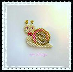 Salyangoz Broş #miyuki #beads #jewellery #tasarım #bileklik #broş #peyote #stitch