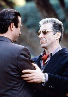 Vincent and Michael - Andy Garcia & Al Pacino Andy Garcia, Al Pacino, The Godfather Part Iii, Godfather Movie, Corleone Family, Don Corleone, Marlon Brando, The Best Films, Great Films