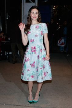 Emmy Rossum #modest #dress #celebrity.  I love this dress! :) So cute and wonderfully modest.
