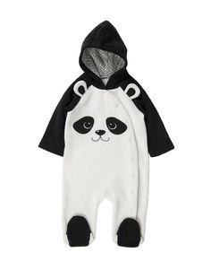 Panda Fleece Sleepsuit