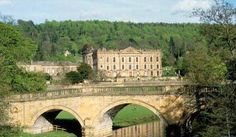 """Chatsworth House - the real life """"Pemberley"""" (at least in one film version of Pride and Prejudice) and a brief history of it. I would love to go on a """"Jane Austen"""" tour of England! The Places Youll Go, Great Places, Places To See, Jane Austen, Hampshire, Yorkshire, Tours Of England, Duke Of Devonshire, Chatsworth House"""