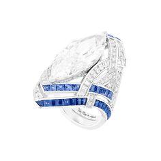 Van Cleef & Arpels Camaaieu de Bleus ring with diamonds and sapphires, price upon requestFor information: vancleefarpels.com - Photo: Courtesy of Van Cleef & Arpels