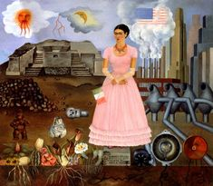 On the Border Line Between Mexico and the United States.         Artiste : Frida Kahlo.     Création : 1932