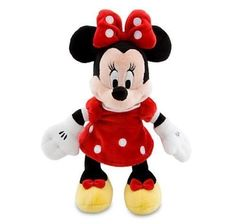 Disney Minnie Mouse in Red Dress Mini Bean Bag Stuffed Plush Doll Ultra Soft NEW #Disney