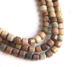 Imperial Jasper Drum Rondelle Beads