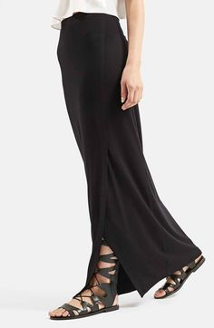 Topshop Slit Maxi Skirt available at #Nordstrom