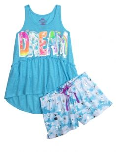 Find the latest in colorful and comfy sleepwear sets for girls at Justice! Shop cute pajamas in tons of fun prints and designs to match her individual style with our collection of sleepwear tops, bottoms, onesies and more. Cute Pjs, Cute Pajamas, Girls Pajamas, Cute Girl Outfits, Hot Outfits, Girly Outfits, Girls Sleepwear, Sleepwear Sets, Justice Pajamas