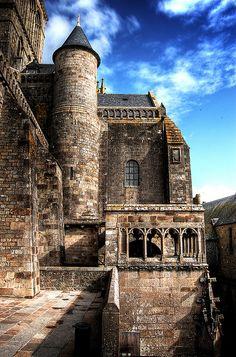 Abdij van Mont Saint-Michel, Normandië, Frankrijk