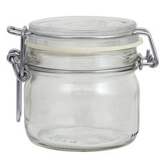 With a round shape for space efficiency, this Glass Clamp Lid Jar works great for a variety of foods. The easy to store canister can be used in the kitchen or vanity or anywhere else around the home.