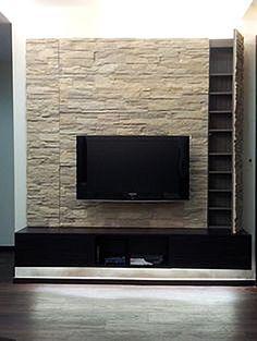 Decoraci n de chimenea con paneles de piedra chimney - Muros sinteticos decorativos ...
