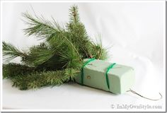 How to Make and Decorate with Holiday Greenery To Hang Over an Outdoor Light | In My Own Style