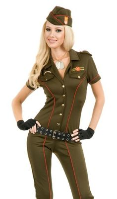 Ww2 Army Pin Up Spice Darling Costume Green and Khaki | clothes | Pinterest | Khakis Adult fancy dress and Costumes  sc 1 st  Pinterest : army pin up costume  - Germanpascual.Com
