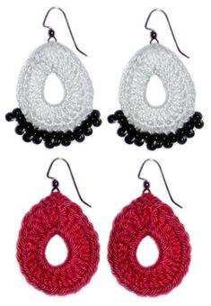 """Free Pattern! """"Cherry Pickers"""" Crochet Cherry Earrings"""