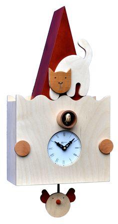 Un fantastico e pregiato orologio a cucu moderno per arredare la tua casa. Scopri i dettagli sul nostro sito. #comprocomodo #cucu #cucù #orologi #orologidaparete #cameretta #bambini #arredo #moderno #arredamento #design #gatto #micio