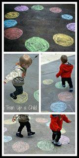 Atividade educativa também!  Reconhecimento das cores - brinque falando o nome das cores onde eles devem pular