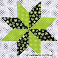 Nancy Zieman - Block of the Month - 2015 Adventure Quilt - Lone Star Quilt Block