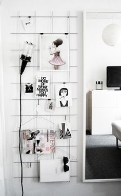 DIY: steel mesh board - via HOMESICK.nu #rionet #armeringsjern #wire