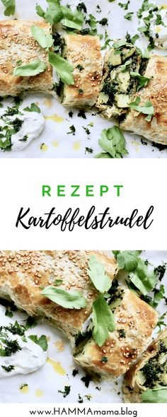 EInfaches DIY-Rezept für Kartoffelstrudel Good Food, Yummy Food, Cakes And More, Salmon Burgers, Vegetarian Recipes, Clean Eating, Food And Drink, Snacks, Dinner