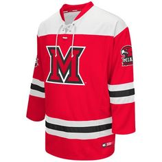 Miami University RedHawks Colosseum Hockey Jersey - Red - -  64.99 University  Of Miami 3849b9d07ab