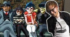 Gorillaz beaten by Ed Sheeran to Official Albums Chart top spot