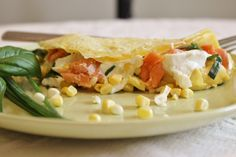 Make an amazing omelette with smoked salmon, fresh herbs, melting cream cheese and sweet corn. You will rarely taste an omelette this delicious.