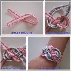 Here's the link to the tutorial  DIY Crochet Bracelet Tutorial  More Creative Ideas