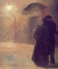 Jakub Schikaneder - Lovers (1909) #painting #art #Czechia