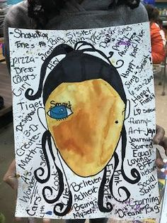 Wonder Inspired grade Self Portraits Elements of the Art Room: Wonder Inspired grade Self Portraits, grade art lesson, elementary art lesson, self portrait art, Elementary Art Rooms, Art Lessons Elementary, Classroom Art Projects, Art Classroom, Art Activities For Kids, Art For Kids, Self Portrait Kids, Portrait Ideas, Primary School Art