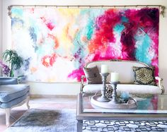 Living Room Mural by Sana Jamlaney, Acrylic on Unstretched Canvas, 12ft x 6ft, 2016
