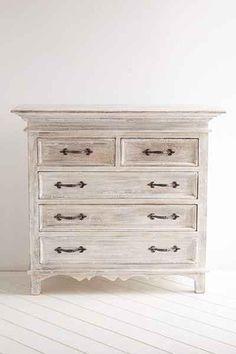 Padma White Washed Dresser