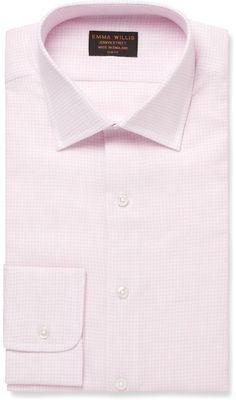 Emma Willis Pink Gingham Check Linen Shirt sur shopstyle.fr