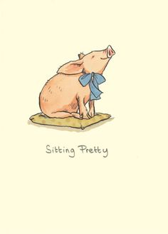 M150 SITTING PRETTY  a Two Bad Mice Greeting Card by Anita Jeram