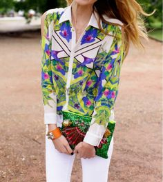 Blouse, Shirt, Korean Style Women Chiffon Blouse, Great for Spring and Summer,  Don't MISS It!!