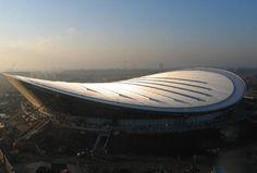hopkins architects: london 2012 olympic velodrome   construction
