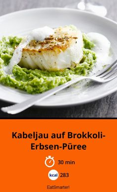 Cod on broccoli and pea puree - Cod on broccoli and pea puree – smarter – calories: 283 kcal – time: 30 min. Mexican Breakfast Recipes, Brunch Recipes, Breakfast Pizza, Breakfast Casserole, Pizza Casserole, Lean Meals, Eat Smarter, One Pot Meals, Fish Recipes