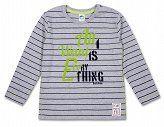 BLUZKA - SZARA W PASY- SANETTA - Buy4Kids - ubranka dla dzieci