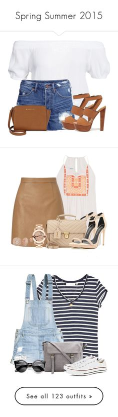 """""""Spring Summer 2015"""" by abcde-979 ❤ liked on Polyvore featuring Boohoo, H&M, Steve Madden, Michael Kors, StreetStyle, StreetChic, maurices, Lipsy, Yves Saint Laurent and River Island"""
