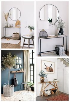 Discover recipes, home ideas, style inspiration and other ideas to try. Home Entrance Decor, Entryway Decor, Diy Bedroom Decor, Decoration Hall, Entrance Hall, Home Furniture, Furniture Design, Style Deco, Bathroom Design Small