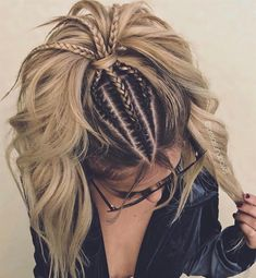 Side Bun with Double Loose Braid - 40 Two French Braid Hairstyles for Your Perfect Looks - The Trending Hairstyle French Braid Hairstyles, Teen Hairstyles, Vintage Hairstyles, Pretty Hairstyles, Straight Hairstyles, Hairstyle Ideas, Two French Braids, French Hair, Braids For Short Hair