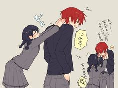 """Akabane Karma""x""Okuda Manami"" Karma Kun, Nagisa And Karma, Anime Couples, Cute Couples, Nagisa X Kayano, Koro Sensei, Okuda, Anime Family, Anime Ships"