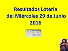 Resultados Sorteo Miércoles 29 de Junio 2016 Loteria Nacional de Panama