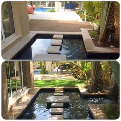 A before and after shot of the amazing job we completed at Arabian ranches this week. We think it looks incredible!  #easigrass #easigrassuae #fakegrass #artificialgrass #arabianranches #grass #dubai #dxb #emirates #villa #waterfeature #uae #unitedarabemirates www.easigrass.ae