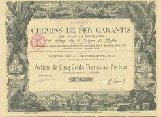 Compagnie des Chemins de Fer Garantis des Colonies Françaises, Paris, 1921