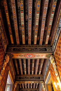 Ceiling, Château de Cheverny, Loire Valley, France