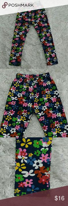Blue Flowers Legging.  Kids Adorable legging with beautiful flowers on blue.   This item is brand new and never used. No tags. Bottoms Leggings
