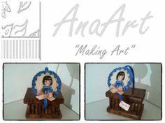 Diadema muñeca recortable. Diadema forrada con tela de muñeca recortable enmarcada con plisado y piquillo a juego con la muñeca. Tengo más muñecas, quien quiera le mando fotos de las muñecas que tengo disponibles. Es un trabajo realizado por AnaArt.
