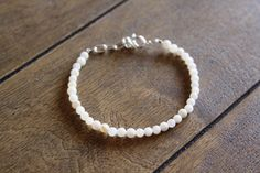 Dainty Shell Bead Bracelet Beaded Bracelet by DlightedJewelry, $15.00