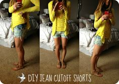 DIY Bleached Jean Cutoffs