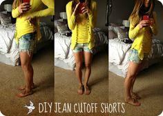 Cella Jane: DIY Cute Jean Cutoff Shorts